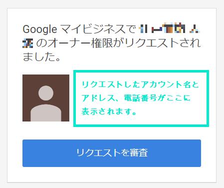 リクエストされた側のメール表示画面